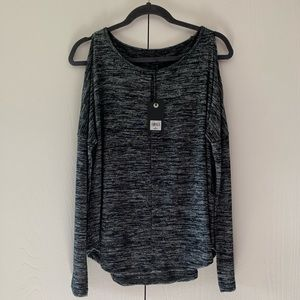 NWT Lucky Brand Cold Shoulder Long Sleeve Shirt